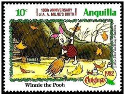 Anguilla 1982 Scott 516 Sello ** Walt Disney Navidad Winnie De Pooh 10c - Disney