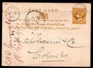CEYLON – 1897 – 2C POSTAL STATIONERY CARD – USED - Ceylon (...-1947)
