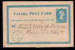 CANADA 1887 – 1 Ct POSTAL STATIONERY CARD – USED - 1860-1899 Regering Van Victoria