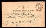 HUNGARY – UNGARN 1889 2 Kr POSTAL STATIONERY CARD – LOCAL USE - Ganzsachen