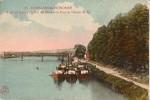 Conflans Saint Honorine-péniches-le Port Des Bleus Et Le Pont Du Chemin De Fer-cpa - Conflans Saint Honorine