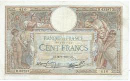 Billet 100 Francs Olivier Merson CT.26.1.1939.CT - 1871-1952 Antiguos Francos Circulantes En El XX Siglo