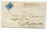 LETTERA ANNULLO LOMBARDO VENETO STORIA POSTALE PARTENZA AGORDO BELLUNO ANNO 1875 ARRIVO A CENCENIGHE - Lombardo-Veneto