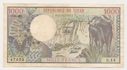 AFRIQUE / AFRICA / TCHAD - 1000 FRANCS 1980 - Tsjaad