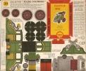 PUBLICITE SHELL -  BOLIDES D' AUTREFOIS HAUTIER 1898 - Carton / Lasercut