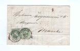 Lettre Double Port TP No 30 X 2 Simple Cercle WELLIN 1875 Vers MARCHE - TB Entete Banque Verniory --  RR/254 - 1869-1883 Léopold II