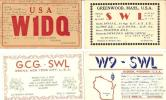 Beau LOT De 10 Cartes QSL Des USA Années 30 (A) - Radio