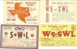 Beau LOT De 10 Cartes QSL Des USA Années 30 (B) - Radio