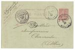 Carte Postale 10c Semeuse 1907 (cachet Le Breul Pour Chavroches ) ( Griffe B M ) - Entiers Postaux