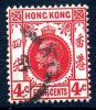 Hong Kong George V 1912 4c Carmine-red, Used - Used Stamps