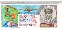 Billets De Loterie....AILES BRISEES  NORMANDIE NIEMEN  1967 ......LO140 - Vieux Papiers