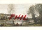"""Jean-Baptiste Corot - """"L´étang Au Bouleau Devant Les Villas"""", Ref 1108-196 - Paintings"""