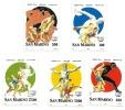 1996 - San Marino 1483/87 Olimpiadi Di Atlanta - Lotta