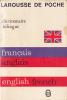 Le Livre De Poche 2221 Dictionnaire Bilingue Français-Anglais 1980 - Dictionnaires