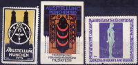 MUNCHEN 1908-1911 -  3 Vignettes (mixed Cond.) - Vignetten (Erinnophilie)