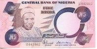 NIGERIA - BILLET DE 5 NAIRA - 1984 - Nigeria