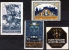 NURNBERG 1912 Ausstellung - 4 Vignettes - Deutschland
