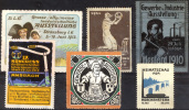 GERMANY 1910-1929  Ausstellungs - 6 Vignettes - Deutschland