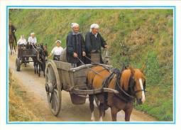 50 - SAVIGNY - Retour Des Bouilleurs De Cru Et Des Lavandieres (les Laveuses). Scéne Normande Traditions. - Unclassified