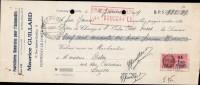 MAURICE GUILLARD, FOURNITURES GENERALES POUR L´AUTOMOBILE  A  FONTENAY / TRAITE DATEE 1939 - France
