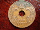 BRITISH EAST AFRICA USED TEN CENT COIN BRONZE Of 1937 (KN) - British Colony