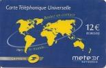 2-CARTES-PREPAYEES-METEOR     NETWORKS-12€-LA POSTE-DIFFERENTES-TBE - Autres Prépayées