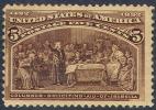 # United States   234, Mint, Og,   SCV$70.00  (us234-5 - 1847-99 General Issues