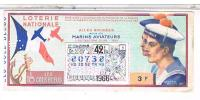 Billets De Loterie...   .AILES BRISEES  MARINS AVIATEURS   1966 ......LO158 - Billets De Loterie