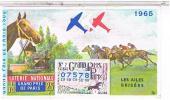 Billets De Loterie...   .AILES BRISEES   GRAND PRIXDE PARIS  1965 ......LO161 - Vieux Papiers