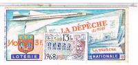 Billets De Loterie...   LE CONCORDE LA DEPECHE    1968 ......LO175 - Vieux Papiers