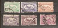 SAUDI ARABIA  - 1949 AIRS SET USED  SG 357-362 - Arabie Saoudite