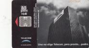 ARGENTINA - Telecom Building, Baby, Telecom Argentina Telecard, Chip SC7, 04/99, Used - Argentina