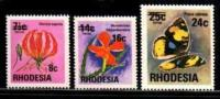 RHODESIA 1976 Def. Serie Zegels Toeslag  Mint 172-174 - Rhodesia (1964-1980)