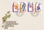 Carta VADUZ (Liechtenstein) 1976. Montreal. Olimpic Games - Estate 1976: Montreal