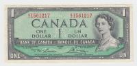 Canada 1 Dollar 1954 QEII Lawson-Bouey (1973-74) VF+ P 75d 75 D - Canada