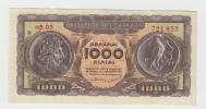 Greece 1000 Drachmai 1953 XF+ Banknote P 326b 326 B - Grèce