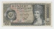 Austria 100 Schilling 1969 VF+ Crispy Banknote P 146a 146 A - Autriche