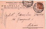MOLTO RARA-CARTOLINA POSTALE PUBBLICITARIA-MAGAZZENO TESSUTI NAZIONALI-FRATELLI MUGGIA-TRINO-CASALE MONFERRATO-27-8-1923 - Storia Postale