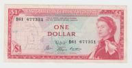 East Caribbean States 1 Dollar 1965 VF++ CRISP P 13f  13 F - Caraïbes Orientales