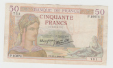 France 50 Francs 1938 VF++ CRISP Banknote P 85b 85 B - 50 F 1934-1940 ''Cérès''