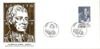 Grande Env Fdc France+feuille D'or, 17/3/84 Paris, N°2304, Journée Du Timbre, Denis Diderot, Philosophe, Encyclopédie - 1980-1989