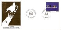 Grande Env Fdc France+feuille D´or, 1/6/85 Antibes, N°2364, Nicolas De Stael, Nature Morte, Tableau, - 1980-1989