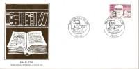 Grande Env Fdc France+feuille D´or, 14/1/84 Paris, N°2328,personnages Célèbres, émile Littré, Dictionnaire - 1980-1989