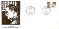 Grande Env Fdc France+feuille D´or, 27/10/84 Nimes, N°2331,personnages Célèbres, Jean Paulhan,essayiste - 1980-1989