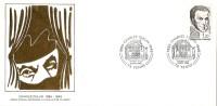 Grande Env Fdc France+feuille D´or, 9/11/85 Yenne, N°2390,charles Dullin, Théâtre - 1980-1989