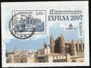 2007-ED.4321 H.B.-EXFILNA´07.CATEDRAL DE PALMA DE MALLORCA-USADO - Blocs & Hojas