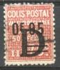 France Colis Postaux. Railway Stamp0f95/75c.D Used. YV136 MNH Railways/Trains/Revenues/Eisenbahnmarken - Trains