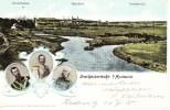 Dreikaiserecke Myslowitz Mysłowice 1905 3 Kaiser 3 Länderfrankaturen Heliocolorkarte Von Ottmar Zieher - Schlesien