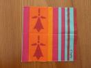 """Serviette Papier """"Hermine (Sophie.C CREATION)"""" 16x16cm Pliée - Servilletas Publicitarias"""