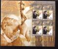 MINT NEVER HINGED MINI SHEET OF POPE JOHN PAUL II   # 437  ( TUVALU  971 - Christendom